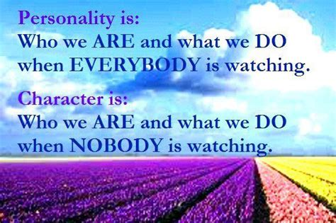 Personality Quotes Wonderful Quote Thought Personality Is Who We Are