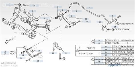 Subaru Outback Suspension Diagram