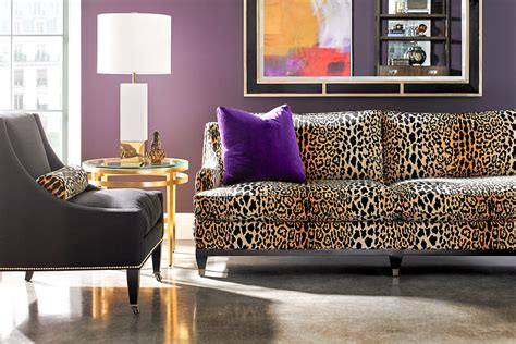 cheetah couch seeing spots leopard prints leap back into home decor