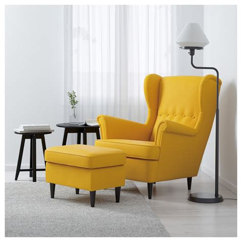 ikea armchair strandmon strandmon wing chair skiftebo yellow ikea