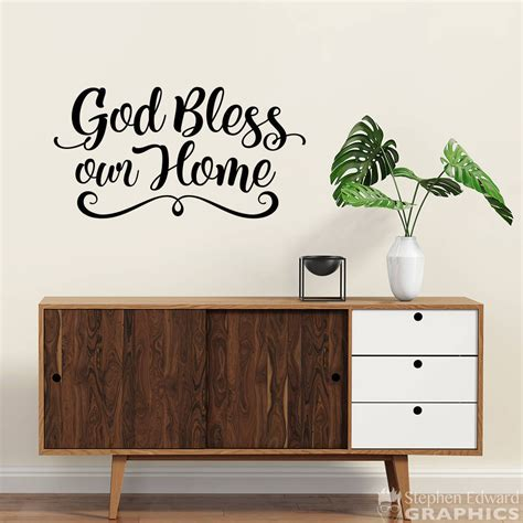 god bless our home wall decor god bless our home decal home wall decor bless wall decal