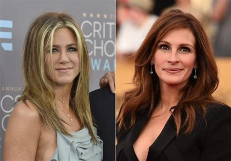 jennifer aniston julia roberts jennifer aniston had jitters working with julia roberts