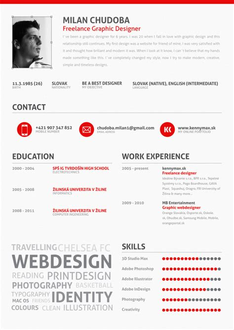 graphic design resumes 14 stunning exles of creative cv resume ultralinx