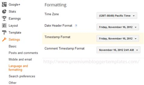 format date from mysql timest how to configure blogger timest format correctly