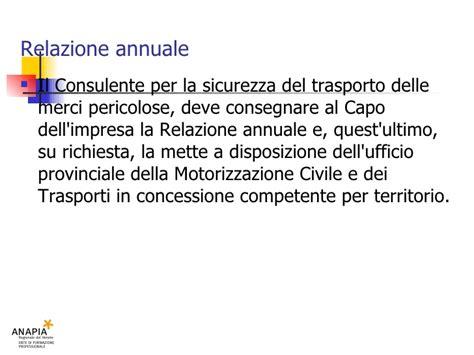 ufficio provinciale motorizzazione civile e trasporti in concessione corso resp 19b lezione adr e emergenze