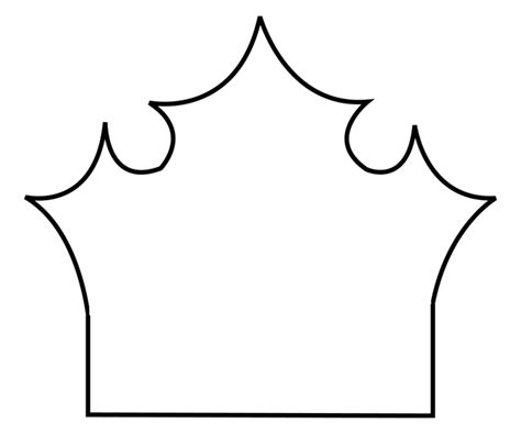 tiara template template princess crown clipart best