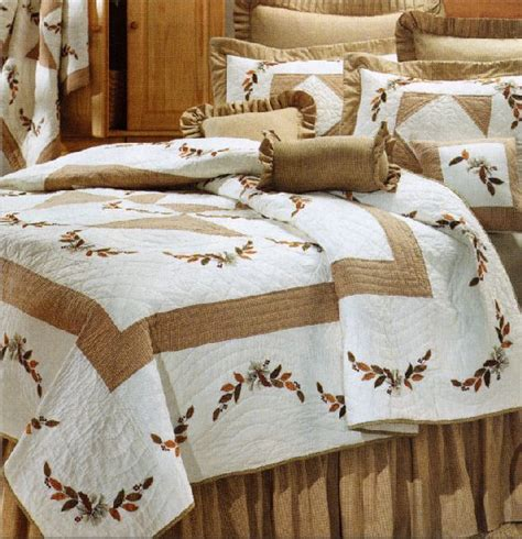 autumn quilt and lodge bedding