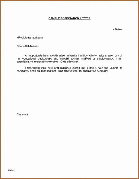 resignation letter awesome sle immediate resignation