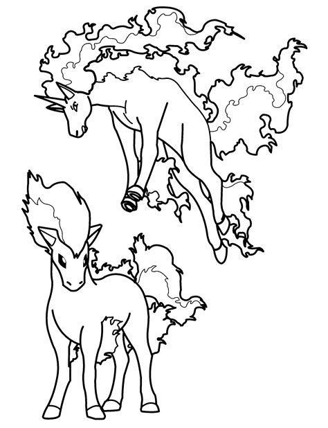 pokemon coloring pages rapidash pokemon ponyta coloring pages coloring home