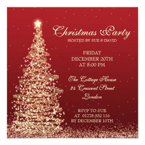 elegant christmas party red 5 25x5 25 square paper
