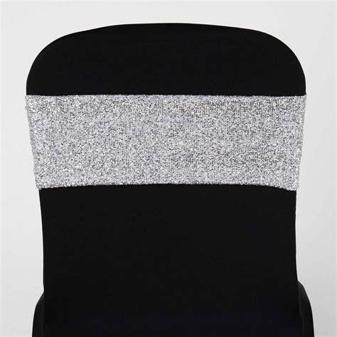 silver spandex chair sashes 5 pcs silver metallic spandex chair sashes catering