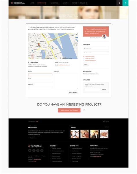 drupal theme views pager preview responsive business drupal theme tb corpal