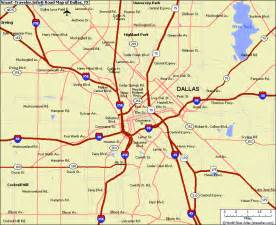 us map of dallas dallas map