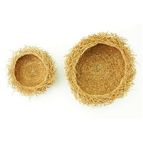 Handmade L - handmade basket from odorous vetiver roots size l passer
