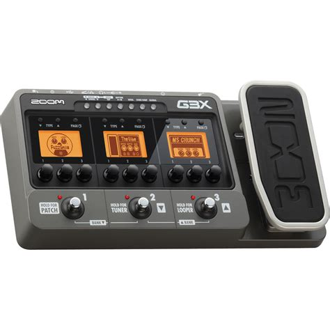 Harga Efek Gitar Zoom G3 zoom g3x multi effects guitar pedal with expression pedal zg3x