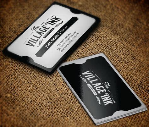 tattoo card designs masculine upmarket business card design for jonny
