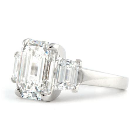 custom 5 carat emerald cut engagement ring wixon jewelers