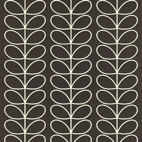 Orla Kiely Stem Duvet Orla Kiely Wallpaper Linear Stem Black