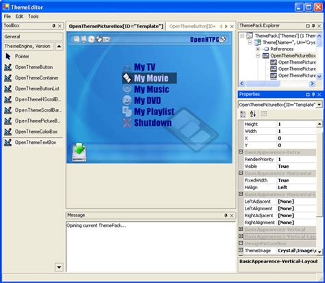 xml tutorial codeproject opentheme an open source graphic user interface gui