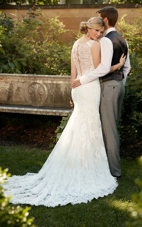 romantic lace wedding gown  essense  australia