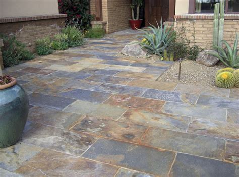 slate patio pavers home design ideas