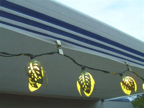 rv awning lights rving the usa is our big backyard motorhome modifications awning light clips