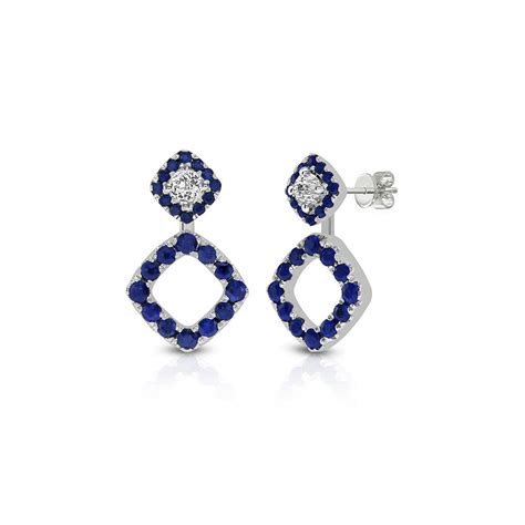 Mes Studded 3in1 the crown berry 3 in 1 cushion blue sapphire earrings crown of light