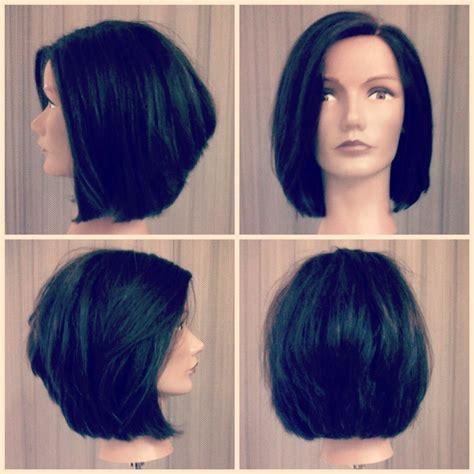 vertical cut hair cutting hair vertically vertical graduation hair pinterest