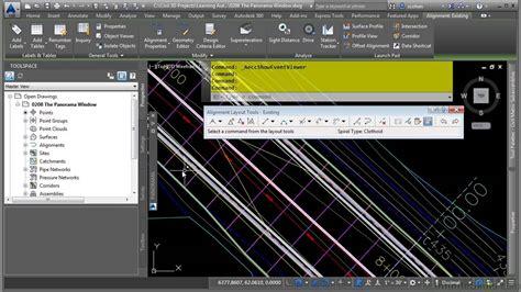 tutorial autocad civil 3d 2015 autocad civil 3d 2015 tutorial the panorama window youtube
