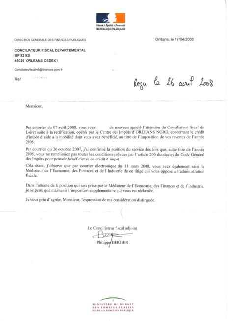 Modele De Lettre Pour Les Impots modele lettre impots