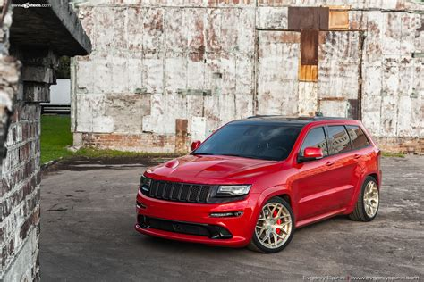 gold jeep grand cherokee 2014 red grand cherokee srt8 on gold forged rims by avant garde