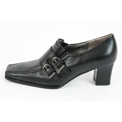 gabor shoes andover trouser shoe in black leather