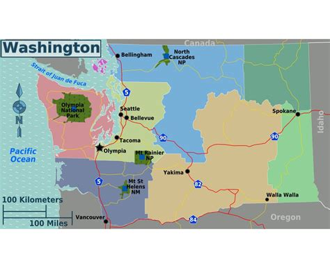 map of washington state usa maps of washington state collection of detailed maps of