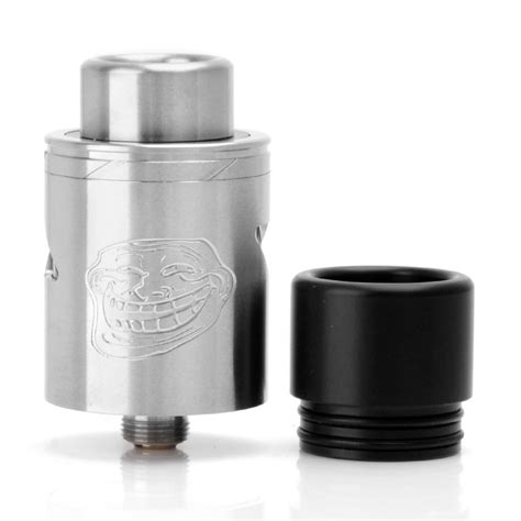 The Troll V2 25mm Rda Atomizer Silver Authentic Sku02039 authentic wotofo the troll rda v2 22mm silver rebuildable atomizer