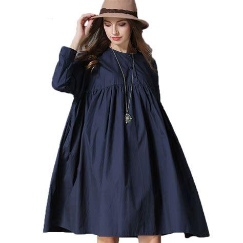 New Vestidos 2016 Autumn Dress Fashion Plus Size F 1 2016 fall new clothing sleeve cotton shirt dress plus size vestidos color