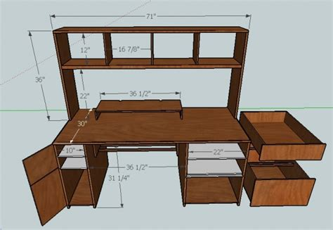 Small Computer Desk Plans Plywood Computer Desk Plans Need Help Building Computer Desk Woodworking Talk Woodworkers Small