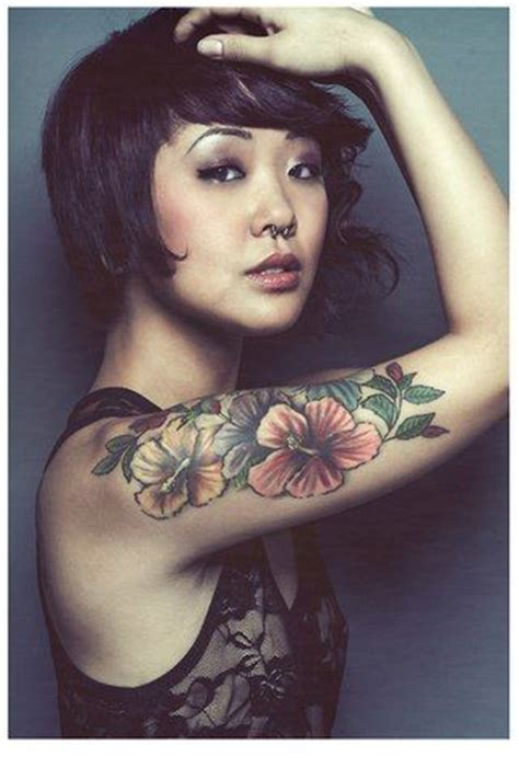 tattoo hibiscus arm hibiscus tattoo on arm tattoo top pinterest