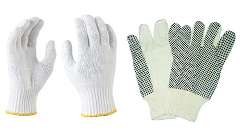 Cotton Glove knitted poly cotton gloves