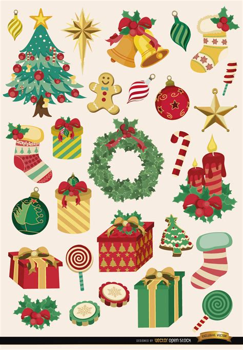 images of christmas objects 28 christmas elements and objects vector download