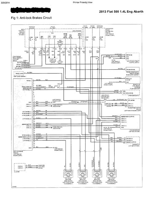 2012 fiat 500 wiring diagram wiring diagram and fuse box diagram with regard to 2012 fiat 500 abarth 500 2013 misc documents wiring diagrams pdf