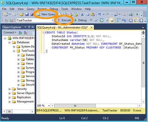 Create New Table Sql by How To Create A Table In Sql Server Using A Query