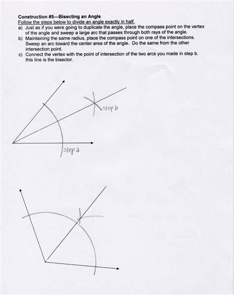 Geometric Constructions Worksheet by Plans Level 2
