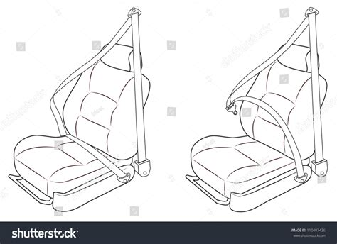 car seats in the front passenger seat front passenger seat car seat belts stock vector 110407436