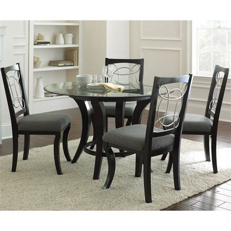 round dining sets steve silver company cayman 5 piece round dining table set