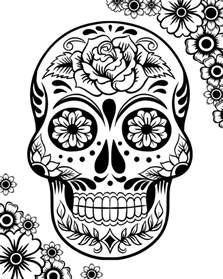 day of the dead coloring sheets free printable day of the dead coloring pages best