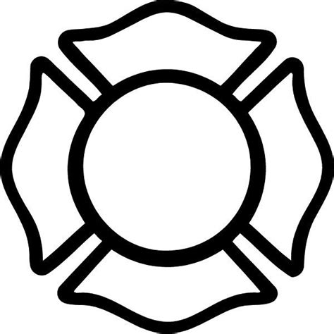 black and white firefighter maltese cross fire safty
