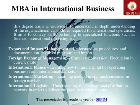 Mba Sector by The Sectors Of Mba