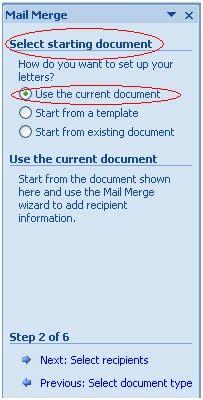 membuat dokumen induk mail merge mail merge dengan menggunakan ms word 2007 langkah