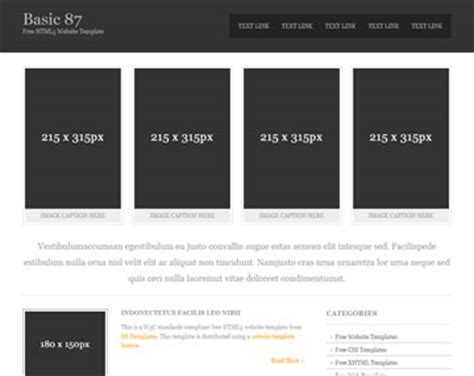 Basic 87 Free Html5 Template Html5 Templates Os Templates Html Simple Website Templates Free