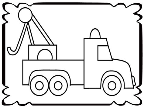tow truck coloring page printout tow trucks coloring pages coloring home